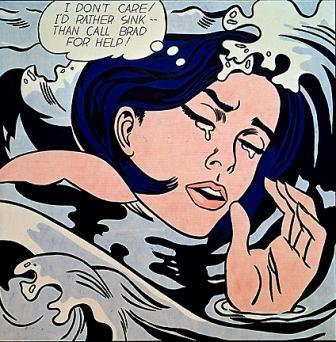 Roy Lichtenstein Pop Art Drowning Girl