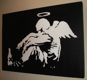 Banksy Fallen Angel pop art
