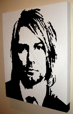 Kurt Cobain pop art