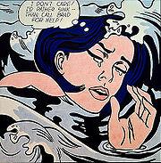 Lichtenstein Drowning Girl